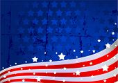 foto of american flags  - An American flag background - JPG