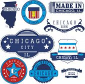 Chicago City, Il. Stamps And Signs poster
