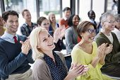 Audience Applaud Clapping Happiness Appreciation Training Concept poster