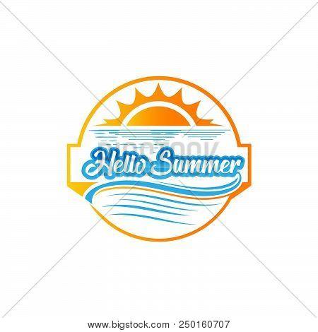 poster of Hello Summer. Summer Season. Summer Wallpaper. Summer Time. Happy Summer. Summer Day. Summer Design.