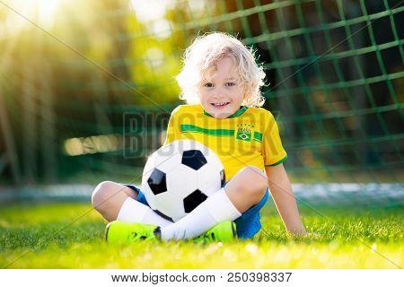 Brazil Football Fan Kids Children