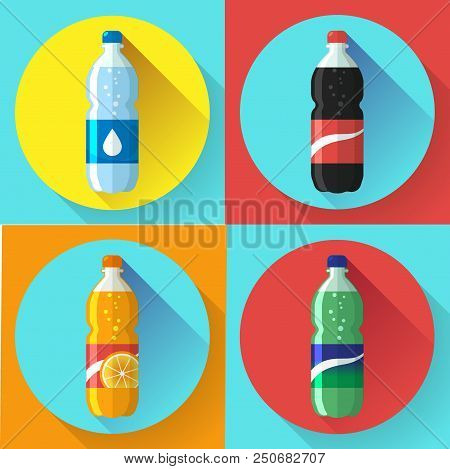Set Of Pictures Plastic Bottle