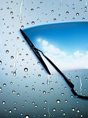 foto of wiper  - vector windscreen wiper illustration - JPG