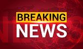 Breaking News. World News With Map Backgorund. Breaking News Modern Concept. Tv News Design. poster