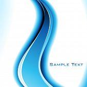 Постер, плакат: Абстрактный фон в синий цвет Вектор