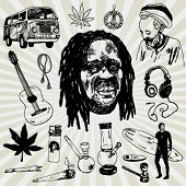 image of peace-pipe  - Doodled Rasta and Other Stuff - JPG