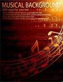image of musical symbol  - musical background  - JPG
