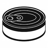 Tuna Can Icon. Simple Illustration Of Tuna Can Vector Icon For Web Design Isolated On White Backgrou poster
