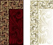 Floral pattern for a decorative frame. Corner samples.