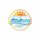 Hello Summer. Summer Season. Summer Wallpaper. Summer Time. Happy Summer. Summer Day. Summer Design. poster