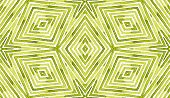 Green Geometric Watercolor. Amazing Seamless Pattern. Hand Drawn Stripes. Brush Texture. Fantastic C poster