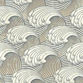 stock photo of swirly  - seamless pattern with waves - JPG