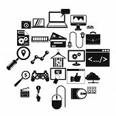 Mobile Tech Icons Set. Simple Set Of 25 Mobile Tech Vector Icons For Web Isolated On White Backgroun poster