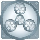 stock photo of gear wheels  - sun gear  - JPG