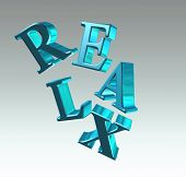 Relax Lettering   Relax,relaxation, Decompression, Rest, Recreation,  Refreshment, Repose, Comfort,r poster
