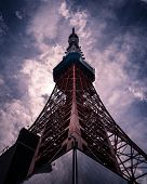 Tokyo Tower In Japan With Overcast Sky poster