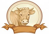 pic of cow head  - Graphical heifer - JPG