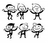 image of cartoon people  - Funny characters set - JPG