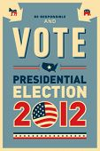 stock photo of united states map  - US presidential 2012 election poster - JPG