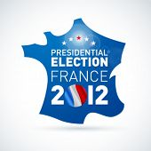 French presidential election in 2012. Vector.