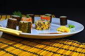 Sushi Set, Japanese Food. Sushi Rolls Sushi Menu poster
