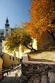 stock photo of banska  - Autumn in town Banska Stiavnica - JPG