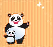 Happy pandas background