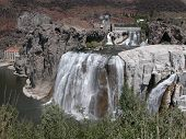 picture of higher power  - Shoshone Falls is 212 feet tall and higher than Niagara - JPG