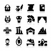stock photo of sparta  - History and culture icons - JPG