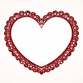 stock photo of breathtaking  - Breathtaking heart shaped frame lovely design element - JPG