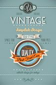 picture of emblem  - Vintage retro page template for a variety of purposes - JPG