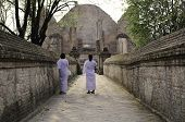 stock photo of nun  - Nuns at Wat Maheyong Temple - JPG