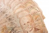 stock photo of brazilian money  - Photo of Ten thousand Cruzeiros fanl  - JPG