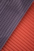 Corrugated colorful cardboard background/texture