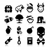picture of nuclear bomb  - Terrorism Icons - JPG