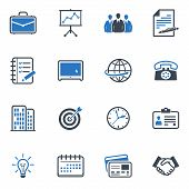 Business und Office-Symbole - blaue Serie