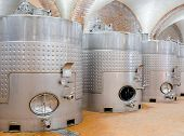 foto of premises  - line of several steel tanks at winery - JPG