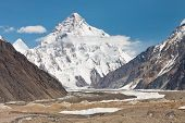 stock photo of skardu  - K2 the second highest mountain in the world - JPG