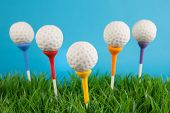 image of cake-ball  - Golf ball cake pops - JPG