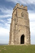 stock photo of arthurian  - Glastonbury Tor is a hill at Glastonbury - JPG