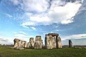 pic of stonehenge  - the ancient stones of stonehenge on a sunny day - JPG