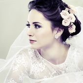 picture of fine art portrait  - Portrait of beautiful bride - JPG