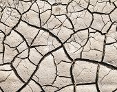 pic of loam  - pattern of dry cracked earth texture at a water hole - JPG
