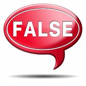 image of tell lies  - false or wrong answer or statement telling lies - JPG