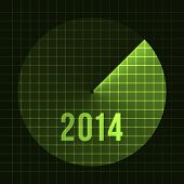 New Year Background. Sonar, 2014. Card template for text. Vector