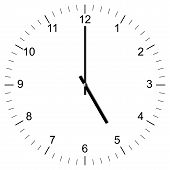 Clock Illustration 5:00