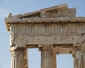 foto of akropolis  - Parthenon temple detail - JPG