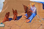 picture of mural  - TAOS NEW MEXICO  - JPG