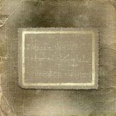 Постер, плакат: Гранж рамка для юбилей или поздравление на золото музыкальный фон