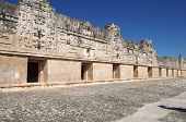 picture of quadrangles  - Ruins of the Nunnery Quadrangle Uxmal Mexico - JPG